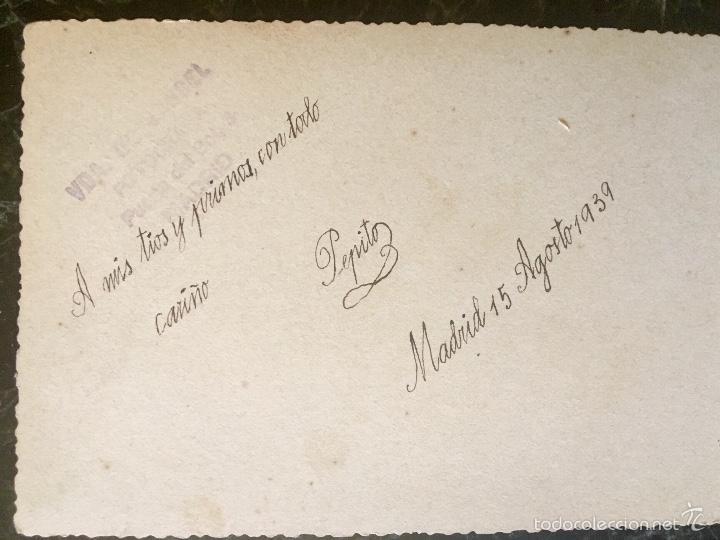 Fotografía antigua: antigua foto niño primera comunion 1939 marinero cruz - Foto 7 - 58337315