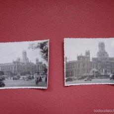 Fotografía antigua: 2 FOTOGRAFÍAS ANTIGUAS: MADRID (CIBELES, CORREOS, 1958) ¡ORIGINALES! COLECCIONISTA. Lote 58427779