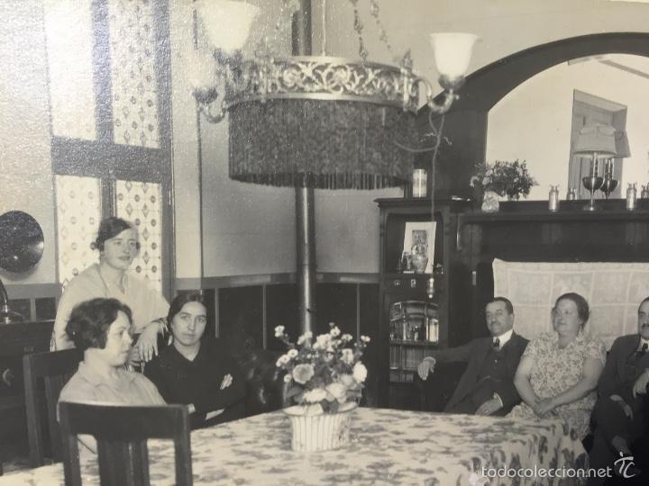 Foto interior comedor casa años 20 30 mobiliario ferriz fot 21x26,5cms
