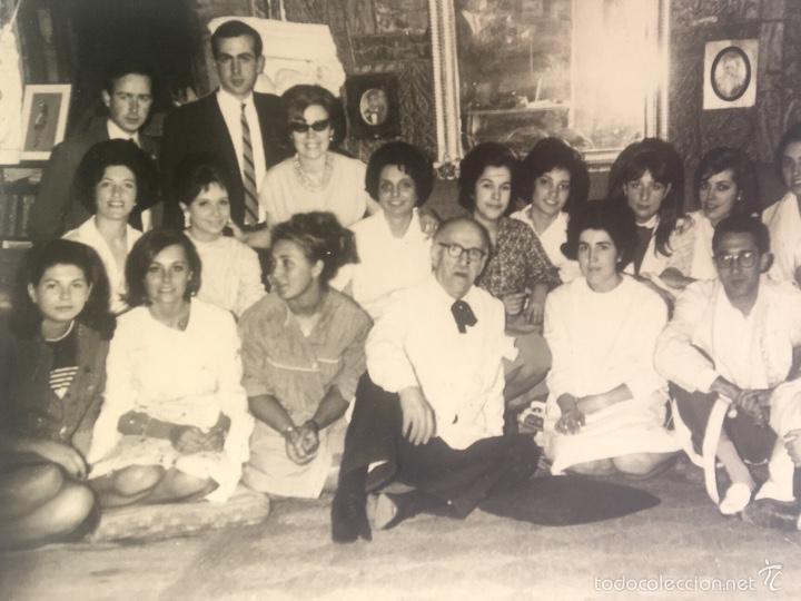 Fotografía antigua: Grupo estudiantes estudio pintura pintores manuel concha maria gutierrez navas y otros madrid 1960 - Foto 2 - 58565207