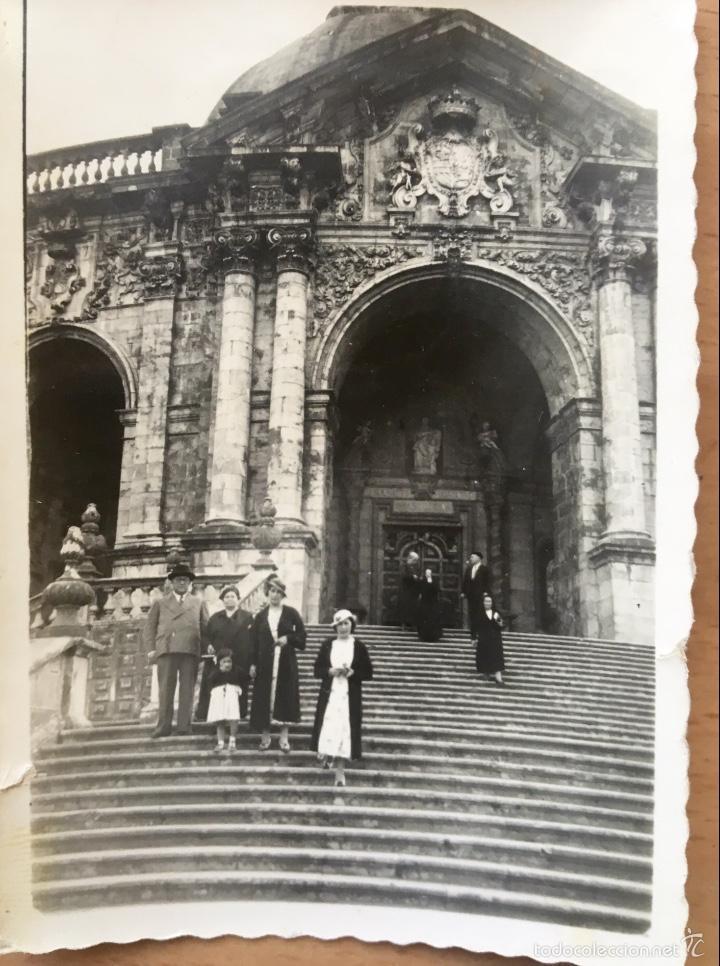 Fotografía antigua: Loiola Loyola Azpeitia Guipuzcoa Iglesia Basilica santuario San ignacio 1920 Barroco familia Lazaro - Foto 3 - 58641593