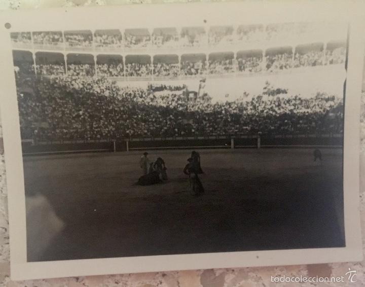 TOROS FOTO PLAZA DE LAS VENTAS 1950 CORRIDA TOREROS GRADAS 6,1X5 (Fotografía - Artística)