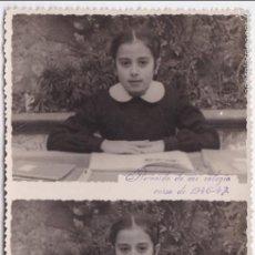 Fotografía antigua: F- 2786. FOTOGRAFIA COLEGIO LAS CARMELITAS. CURSO 1946-47.. Lote 59743940