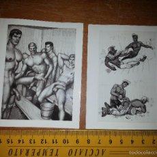 Fotografía antigua: FOTOGRAFIA ARTISTICA . TEMATICA GAY DESNUDO HOMBRE EROTICA EN 2 HOJAS VER TRASERA. Lote 59888503