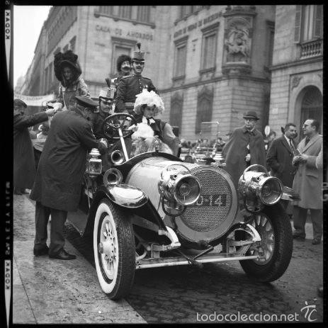 Fotografía antigua: 44 Fotos del Rally de coches antiguos de Sitges, años 1964, 1967 y 1971. Negativos en color y BN - Foto 2 - 60541827