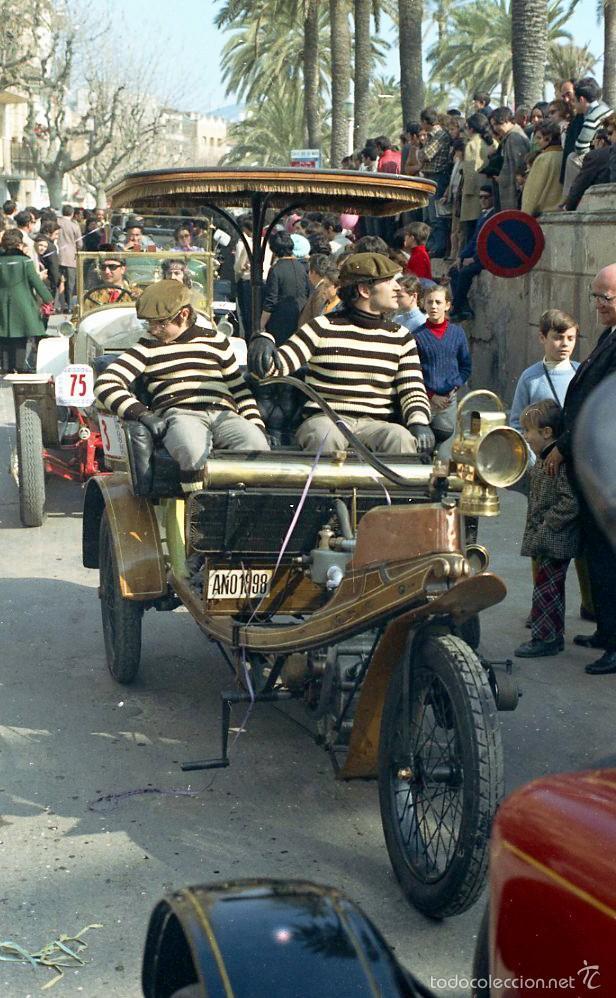 Fotografía antigua: 44 Fotos del Rally de coches antiguos de Sitges, años 1964, 1967 y 1971. Negativos en color y BN - Foto 4 - 60541827