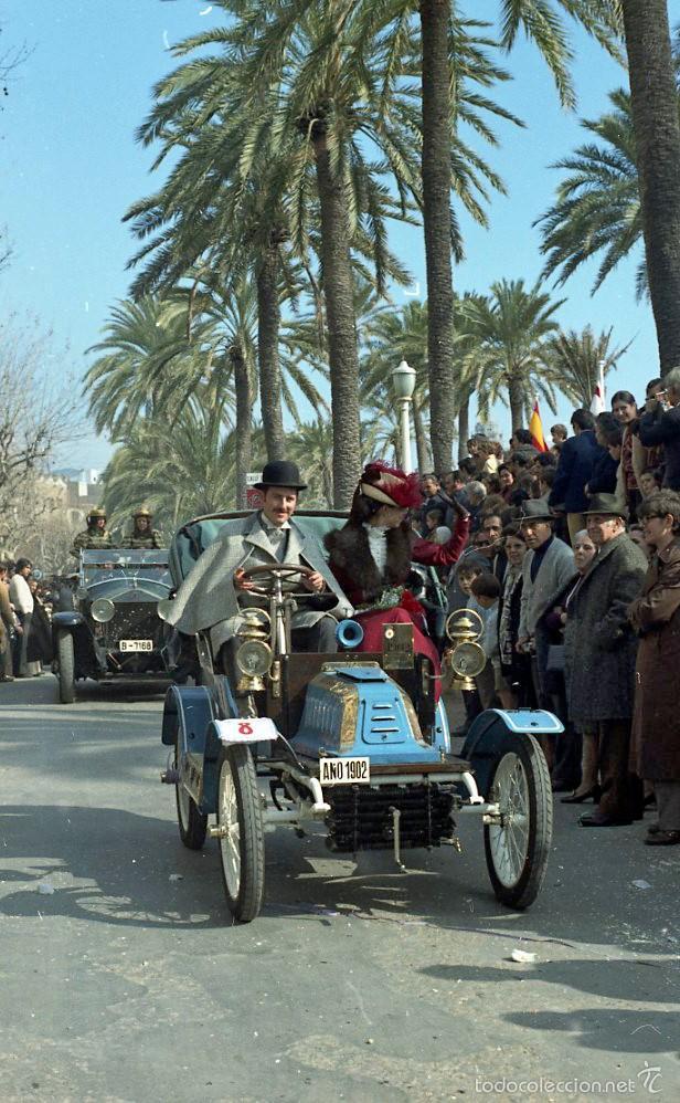 Fotografía antigua: 44 Fotos del Rally de coches antiguos de Sitges, años 1964, 1967 y 1971. Negativos en color y BN - Foto 5 - 60541827