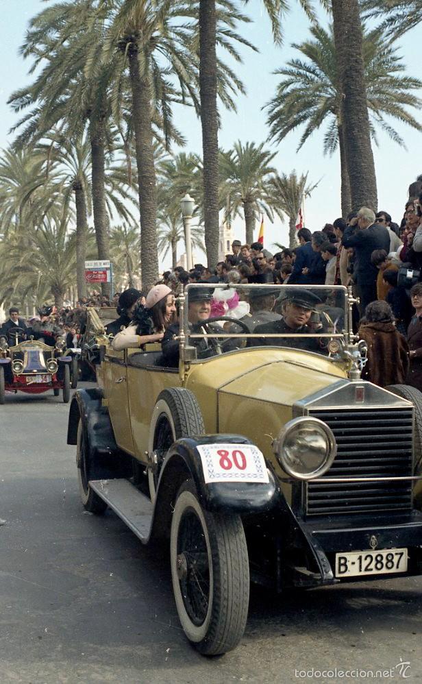 Fotografía antigua: 44 Fotos del Rally de coches antiguos de Sitges, años 1964, 1967 y 1971. Negativos en color y BN - Foto 6 - 60541827