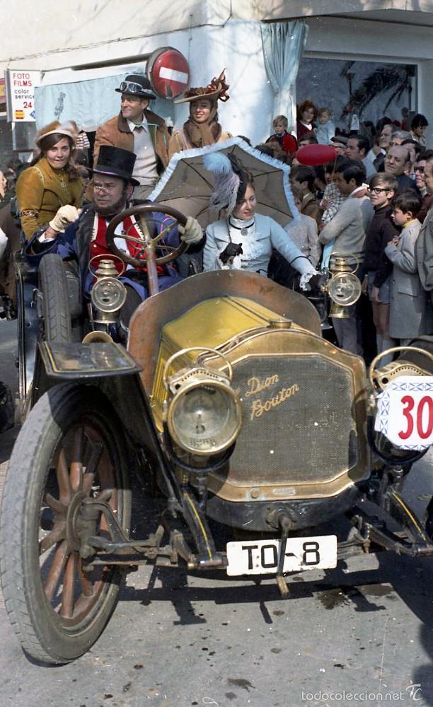 Fotografía antigua: 44 Fotos del Rally de coches antiguos de Sitges, años 1964, 1967 y 1971. Negativos en color y BN - Foto 10 - 60541827