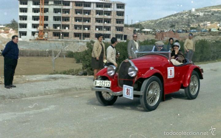 Fotografía antigua: 44 Fotos del Rally de coches antiguos de Sitges, años 1964, 1967 y 1971. Negativos en color y BN - Foto 12 - 60541827