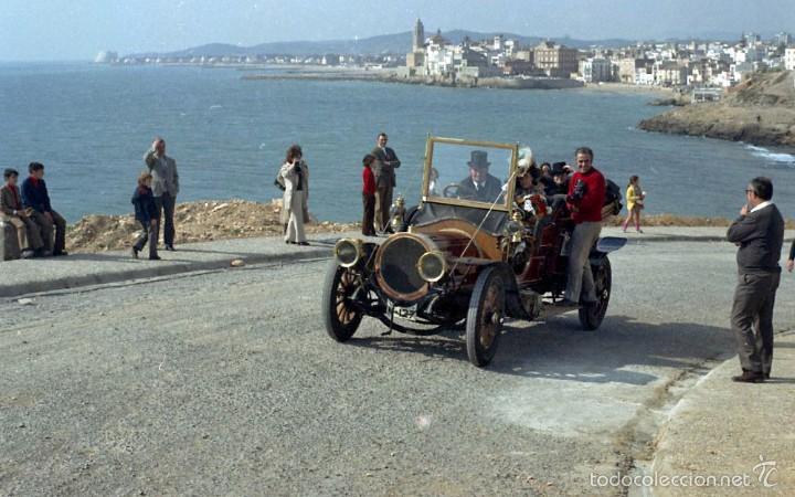 Fotografía antigua: 44 Fotos del Rally de coches antiguos de Sitges, años 1964, 1967 y 1971. Negativos en color y BN - Foto 13 - 60541827