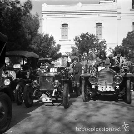 Fotografía antigua: 44 Fotos del Rally de coches antiguos de Sitges, años 1964, 1967 y 1971. Negativos en color y BN - Foto 19 - 60541827