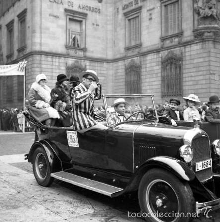 Fotografía antigua: 44 Fotos del Rally de coches antiguos de Sitges, años 1964, 1967 y 1971. Negativos en color y BN - Foto 23 - 60541827