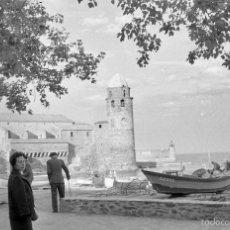 Fotografía antigua: 3 FOTOS DE COLLIURE (FRANCIA), 1960. Lote 60889155