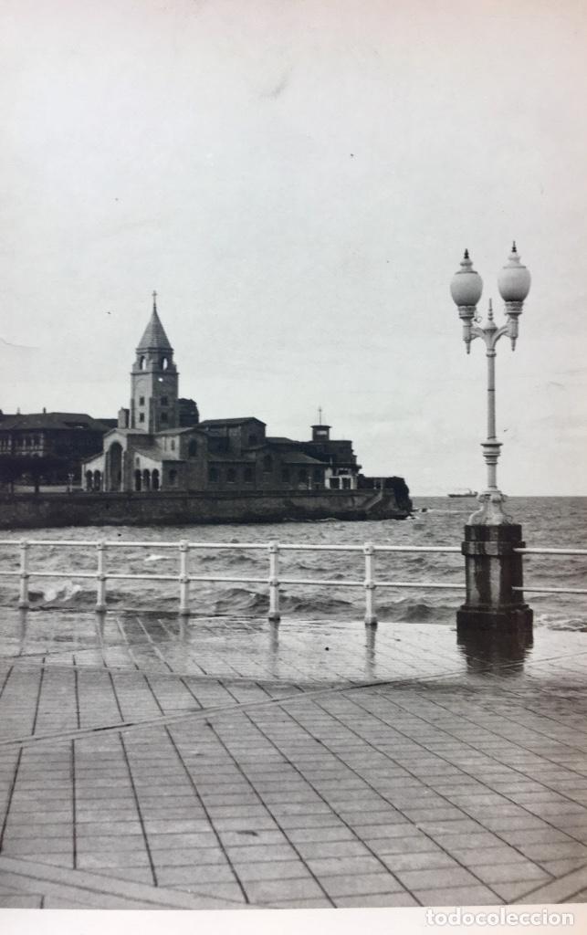 GIJON IGLESIA SE SAN LORENZO FOTO 1920 PASEO MARITIMO12X17,5 (Fotografía - Artística)