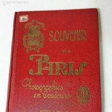 Fotografía antigua: SOUVENIR DE PARIS FOTOS COLOREADAS. Lote 60985963