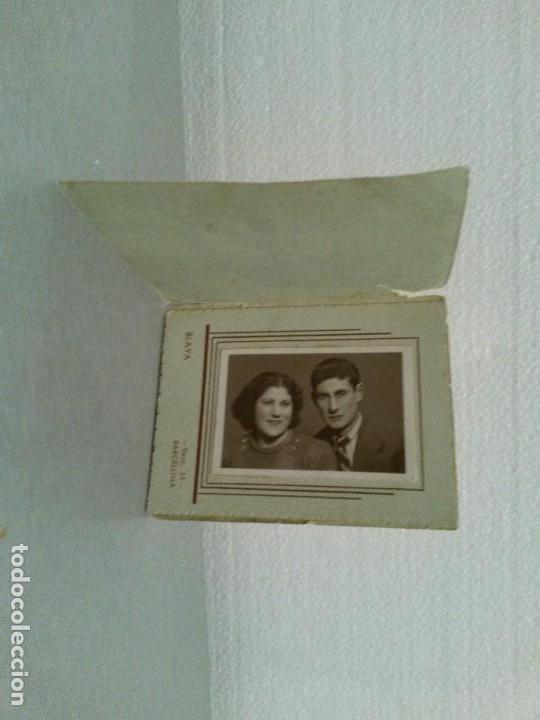 FOTOGRAFIA DE PAREJA. BLAYA BARCELONA.9 X 7 CM. (Fotografía - Artística)