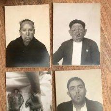 Fotografía antigua: IMPRESIONANTE LOTE DE 4 FOTOGRAFIAS DE ENFERMOS DE LEPRA ORIGINALES AÑO 1929. Lote 64843619