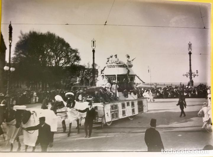 SAN SEBASTIÁN CARNAVALES 1900 FOT GALARZA CARROZA 18X24CMS (Fotografía - Artística)