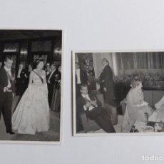 Fotografía antigua: DOS FOTOS DE PRENSA DEL SHA DE PERSIA: MUHAMED REZA PAHLAVI. 1955. Lote 67083985