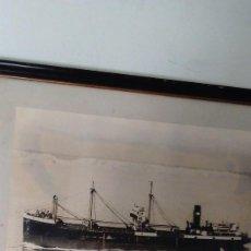 Fotografía antigua: FOTOGRAFÍA ANTIGUA ENMARCADA DEL BARCO SARDIS. AÑOS 30 . Lote 67383505