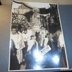 Fotografía antigua: VALENCIA - ANTIGUA FOTOGRAFIA - LA PROCESION DE LA VIRGEN DE LOS DESEMPARADOS TAMPON REPORT.GRAF.. Lote 67967461