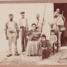 Fotografia antiga: F- 2981. FOTOGRAFIA ORIGINAL FAMILIA S.XIX. MAHON, MENORCA.. Lote 68452177