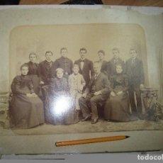 Fotografía antigua: GUERRA MUNDIAL ANTIGUA FOTO 36 X 30 CMS FOTOGRAFIA FAMILIA MILITAR PYNKAU GHELER EIPZIG ALEMANIA. Lote 68969449