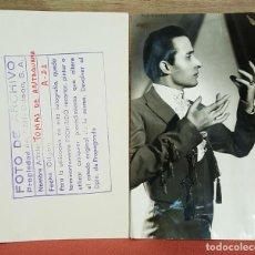 Fotografía antigua: FOTOGRAFIA ORIGINAL DEL ARTISTA TOMAS DE ANTEQUERA.1955. ( VER DESCRIPCION. ) . Lote 70070357