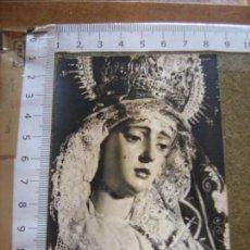 Fotografía antigua: SEMANA SANTA SEVILLA - ANTIGUA FOTOGRAFIA DE LA VIRGEN DEL VALLE - FOTO FERNAND. Lote 71154557