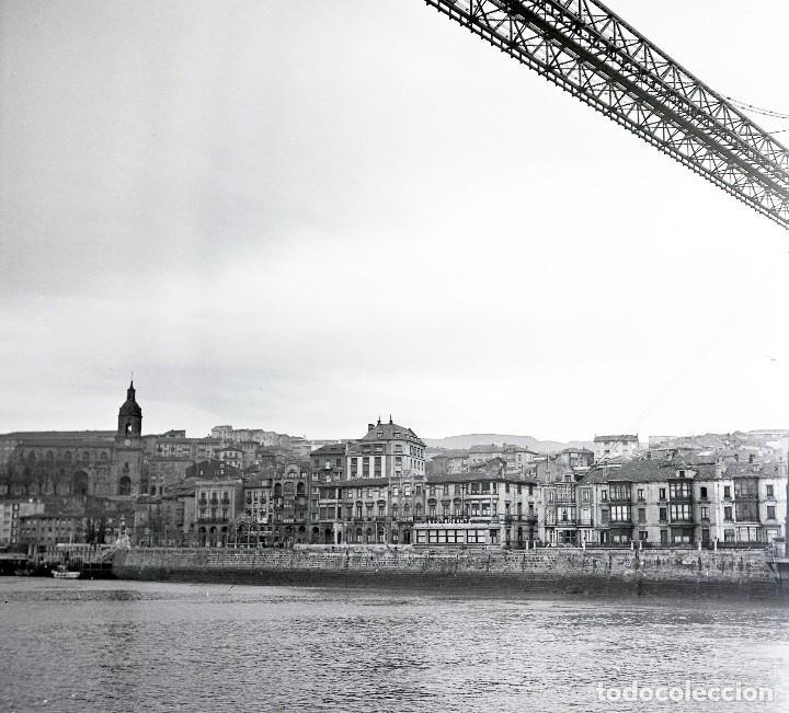 Fotografía antigua: 2 Fotos (negativos 53x53mm) de Bilbao y Portugalete,1964. Excelente calidad. Vizcaya. Euskalerría - Foto 2 - 71213897