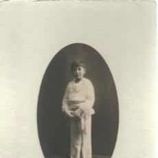 Photographie ancienne: EXTRAORDINARIA FOTOGRAFIA ANTIGUA - NIÑO DE 1ª COMUNION -FOTO- GARAY -VALLADOLID AÑO 31. Lote 86687106