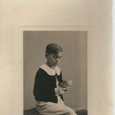 Photographie ancienne: EXTRAORDINARIA FOTOGRAFIA ANTIGUA - NIÑO DE 1ª COMUNION -FOTO- GARAY -VALLADOLID AÑO 34. Lote 73494111