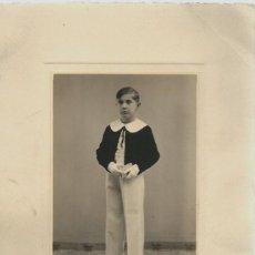 Photographie ancienne: EXTRAORDINARIA FOTOGRAFIA ANTIGUA - NIÑO DE 1ª COMUNION -FOTO- GARAY -VALLADOLID AÑO 34. Lote 73494539