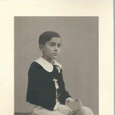 Photographie ancienne: EXTRAORDINARIA FOTOGRAFIA ANTIGUA - NIÑO DE 1ª COMUNION -FOTO- GARAY -VALLADOLID AÑO 40. Lote 73494947