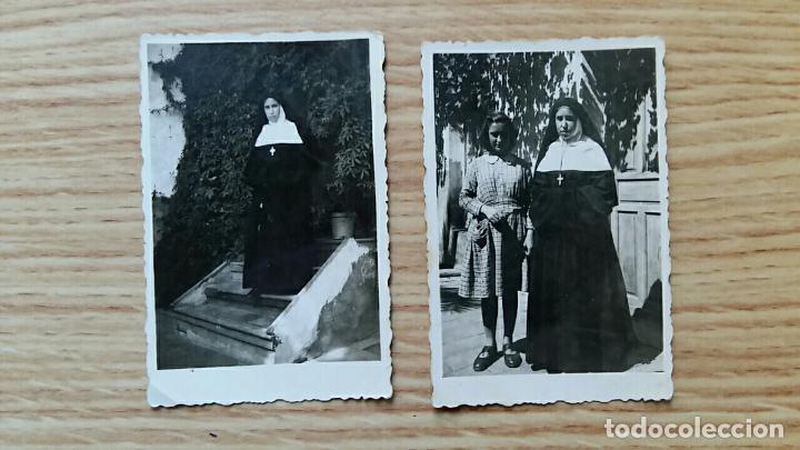 ANTIGUA FOTOGRAFIA. RELIGIOSA, MONJA. LOTE DE 2 PEQUEÑAS FOTOS (Fotografía - Artística)