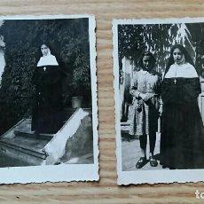 Fotografía antigua: ANTIGUA FOTOGRAFIA. RELIGIOSA, MONJA. LOTE DE 2 PEQUEÑAS FOTOS. Lote 73669795