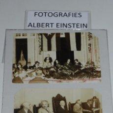 Fotografía antigua: 2 FOTOGRAFIAS DE ALBERT EINSTEIN VISITA A CUBA 1930 ( ORIGNALES ) - CIENTIFICO ALEMAN. Lote 73686167