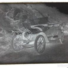 Fotografía antigua: FOTO SOBRE VIDRIO NEGATIVO GRAN FORMATO VEHICULO AUTOMOVIL PPIO S XX NO IDENTIFICADO 13X18CMS. Lote 73818603