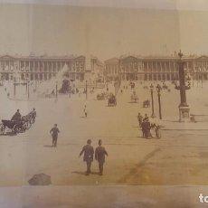Fotografía antigua: FOTOGRAFIA PARIS FINALES DEL SIGLO XIX CON IGLESIA MAGDALENA . Lote 73941179