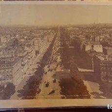 Fotografía antigua: FOTOGRAFIA PARIS CAMPOS ELISEOS FINALES SIGLO XIX. Lote 73941355