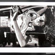 Fotografía antigua: DAVID SALLE, *COLONY*,1986. FOTO PRENSA. SELLO HÚMEDO *RESEÑA*.NOTAS DEL CUADRO Y EXPOSICIÓN.1988. Lote 74305791