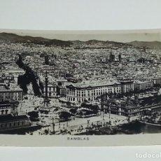 Fotografía antigua: ANTIGUA FOTOGRAFIA VISTA GENERAL DE LAS RAMBLAS BARCELONA AÑOS 40 / 50 . Lote 74671427