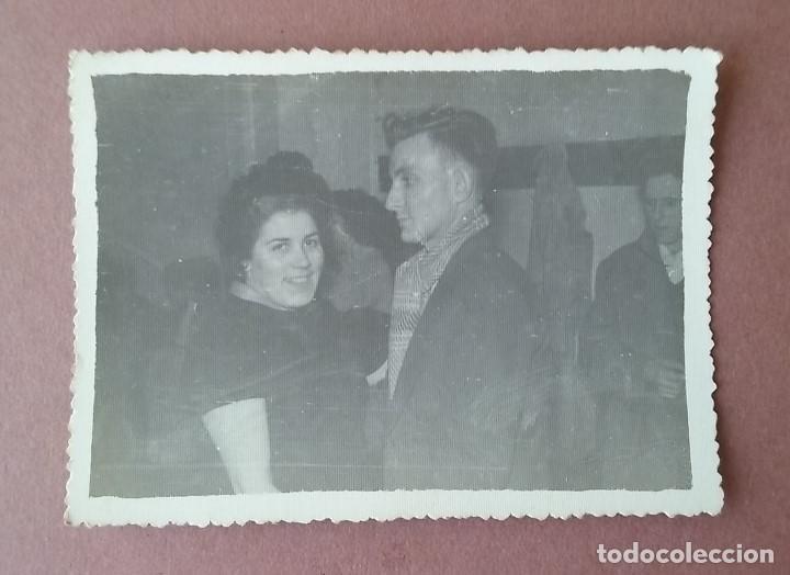 ANTIGUA FOTOGRAFIA PAREJA EN EL BAILE. MIERES ALLER ?. ASTURIAS. AÑOS 50 - 60. (Fotografía - Artística)