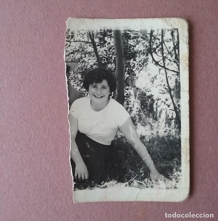 ANTIGUA FOTOGRAFIA MUJER JOVEN. MIERES ALLER ?. ASTURIAS. AÑOS 50. (Fotografía - Artística)