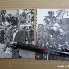 Fotografía antigua: 2 FOTOS FALLA CONVENTO JERUSALEN - 1969 - FALLAS VALENCIA - FOTOGRAFIA ORIGINAL. Lote 75675931
