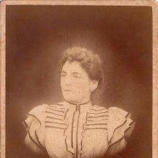 Fotografía antigua: RETRATO DE UNA JOVEN,FOTOGRAFÍA CAPITANIO, DE BUENOS AIRES, SIGLO XIX,- CLC. Lote 76009883