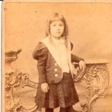 Fotografía antigua: RETRATO DE UN NIÑO, ESTUDIO BENINCASA, BUENOS AIRES, SIGLO XIX MUY BUEN ESTADO - CLC. Lote 76010567