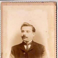 Fotografía antigua: RETRATO DE ESTUDIO DE UN CABALLERO DEL XIX.FOTOGRAFÍA FEDERICO BRUNEL, MONTEVIDEO - CLC. Lote 76015071