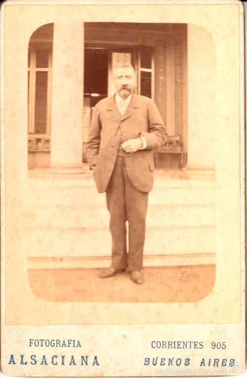 RETRATO DE UN CABALLERO, 1895, FOTOGRAFÍA ALSACIANA, BUENOS AIRES - CLC (Fotografía - Artística)